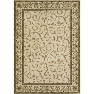Admire Home Living Amalfi Scroll Ivory Area Rug (7'9 x 11')