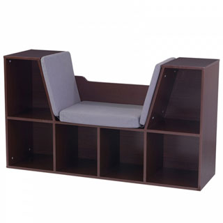 KidKraft Espresso Bookcase with Reading Nook