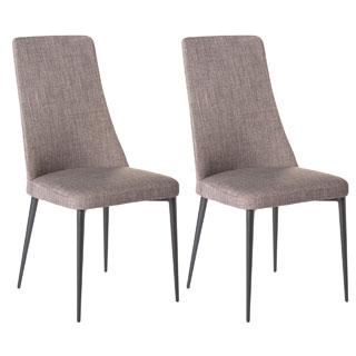 Aurelle Home Nest Chair Grey (Set Of 2)