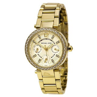 Michael Kors Women's 'Mini Parker' Gold Tone Ion Plated Stainless Steel MK6056 Watch