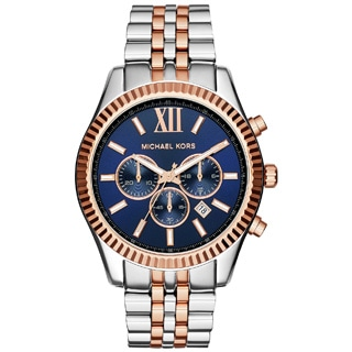 Michael Kors Men's MK8412 Lexington Round Two-tone Bracelet Watch