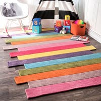 nuLOOM Handmade Kids Stripes Multi Rug - 3' x 5'