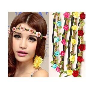 Braided Flower Headband - Set of Two (Option: Pink)