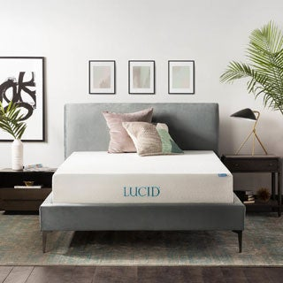 LUCID 12-inch Queen-size Plush Gel Memory Foam Mattress