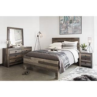 Aurelle Home Rustic Distressed Vintage Queen Bed