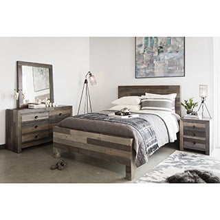 Aurelle Home Rustic Distressed Vintage Queen Bed