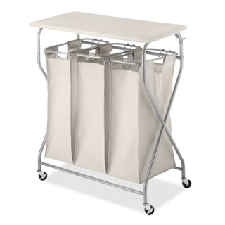 Whitmor 6640-4982 EasyLift Triple Sorter Hamper with Table