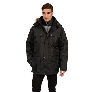 Excelled Men's Parka with Faux Fur