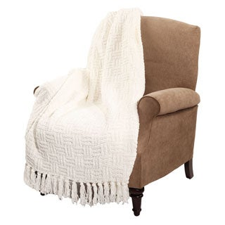 BOON Cable Knitted Couch Cover Throw Blanket
