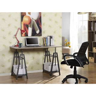 Homestar Height Adjustable Desk in Reclaimed Wood