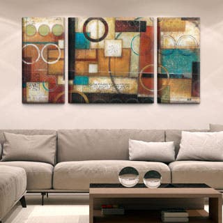 wall art for living room. Studio 212  Circumstance 30x60 Triptych Textured Canvas Art Gallery For Less Overstock com