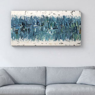 Carmen Guedez 'Blue Nile' 24x48 Canvas Wall Art