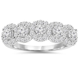 14k White Gold 1 1/10 ct TDW Diamond Anniversary Ring (I-J/I2-3)