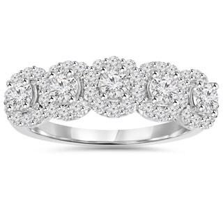 14k White Gold 1 1/10 ct TDW Diamond Anniversary Ring