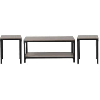 Homestar 3-Piece Coffee Table and Side Table Set in Reclaimed Wood