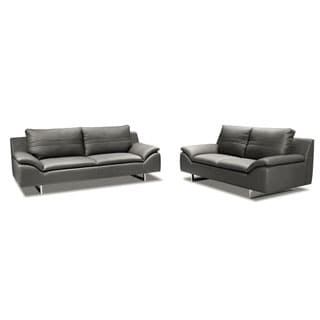Obbe Sofa and Love Seat Leather Set