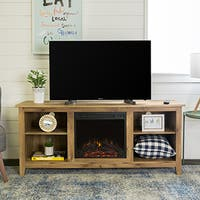 Barnwood Finished Fireplace TV Stand