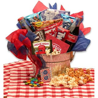 Gift baskets for less overstock blockbuster night movie gift pail negle Images