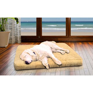 FurHaven Quilted Suede Deluxe Orthopedic Pet Bed (More options available)