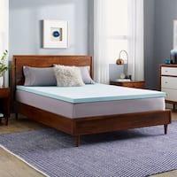 Slumber Solutions Choose Your Comfort 2-inch Gel Memory Foam Mattress Topper - Blue