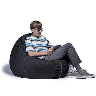Denim 4 foot Cocoon Bean Bag Chair