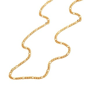 Pori 14k Yellow Gold Figaro Chain Necklace