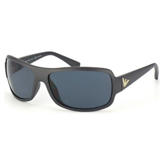 Emporio Armani Men's EA4012 Plastic Rectangle Polarized Sunglasses