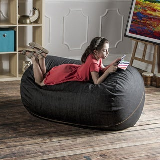 Jaxx Denim 4-foot Bean Bag Lounger