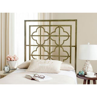 Safavieh Lucina French Silver Metal Quatrefoil Headboard (Twin)
