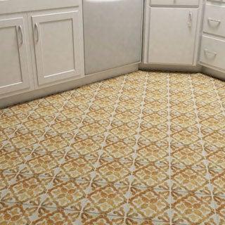 SomerTile 7.75x7.75-inch Gavras Arena Dcor Clover Ceramic Floor and Wall Tile (Case of 25)