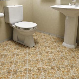SomerTile 7.75x7.75-inch Gavras Arena Dcor Dahlia Ceramic Floor and Wall Tile (Case of 25)