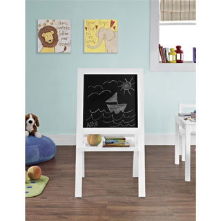 Altra Hazel Kid's White Floor Easel by Cosco