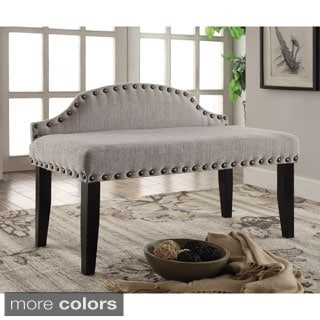 Furniture of America Emira 42-inch Flax Upholstered Accent Bench