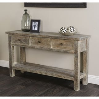 Kosas Home Hand Distressed Rockie Sustainable Plantation Grown Pine Console Table