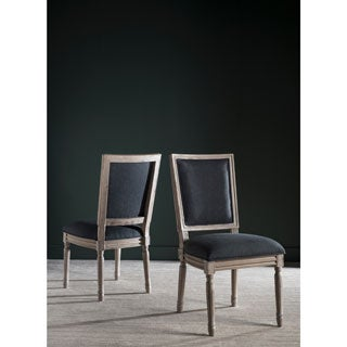 Safavieh Old World Dining Buchanan Charcoal Rect Dining Chairs (Set of 2)
