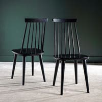 Safavieh Country Classic Dining Burris Black Dining Chairs (Set of 2)