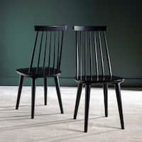Safavieh Country Classic Dining Burris Black Dining Chairs (Set of 2) - 17 x 18 x 36