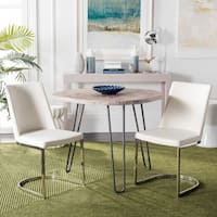 Safavieh Mid-Century Dining Parkston Modern White Dining Chairs (Set of 2)