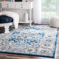 nuLOOM Traditional Persian Fancy Aqua Area Rug (8' x 10') - 8' x 10'