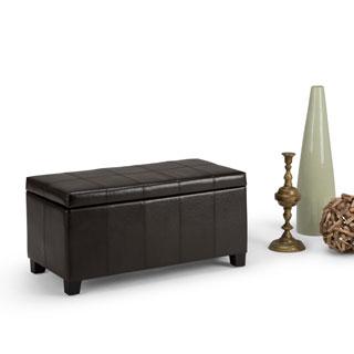 WyndenHall Lancaster Fabric Storage Ottoman Bench