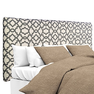 MJL Furniture Alice Summerland Grey Natural Upholstered Headboard