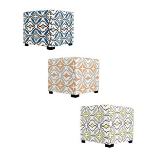 MJL Furniture Eden 4 Button Tufted Square Ottoman
