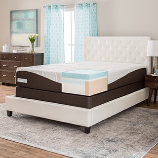 ComforPedic from Beautyrest 12-inch Full-size Gel Memory Foam Mattress Set
