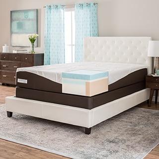 ComforPedic from Beautyrest 12-inch Full-size Gel Memory Foam Mattress Set