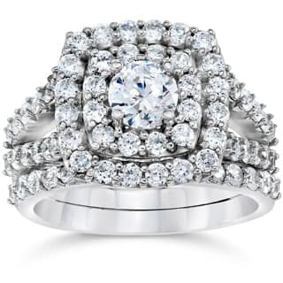 10k White Gold 2ct TDW Diamond Double Halo Wedding Ring Set|https://ak1.ostkcdn.com/images/products/P17479051ir.jpg?impolicy=medium