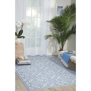 Waverly Sun N' Shade Lace It Up Aquarium Indoor/ Outdoor Area Rug by Nourison (5'3 x 7'5)