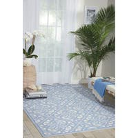 Waverly Sun N' Shade Lace It Up Aquarium Indoor/ Outdoor Area Rug by Nourison - 5'3 x 7'5