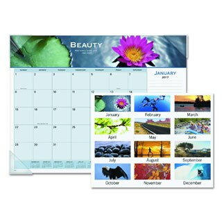 At-A-Glance 2017 Motivational Panoramic Desk Pad