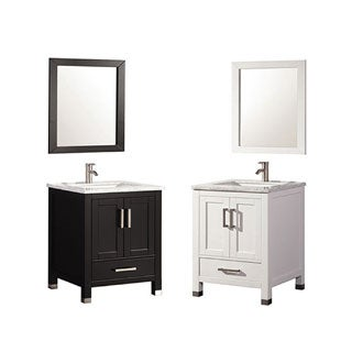 MTD Vanities Ricca 24-inch Single Sink Bathroom Vanity Set with Mirror and Faucet