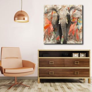 Ready2HangArt 'Saddle Ink Elephant I' Canvas Wall Art